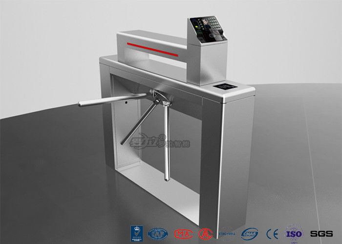 Entry Systems Access Control Turnstiles with Led Display , Road Barcode Electric Turnstile