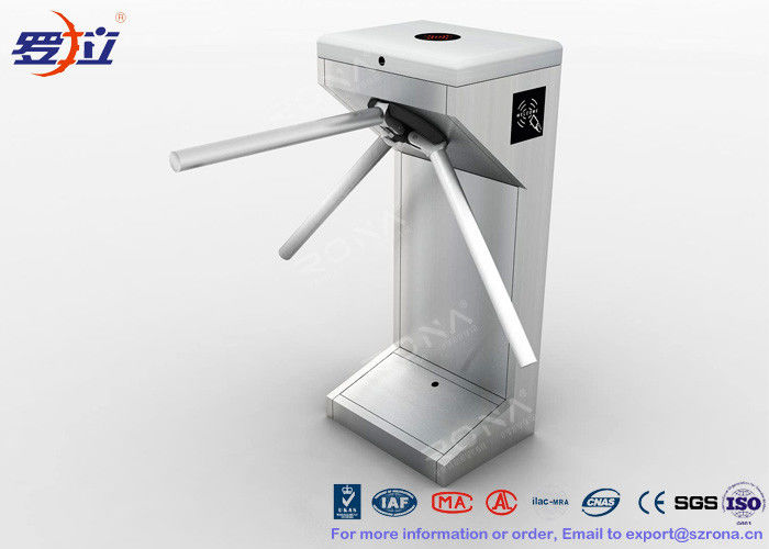 Vertical Tripod Access Control Turnstiles Semi - Auto Compact For Outdoor