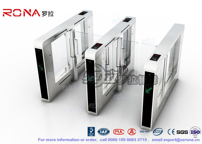 Luxury Speed Gate Access Control System CE Approved For Office Building With 304 stainless steel