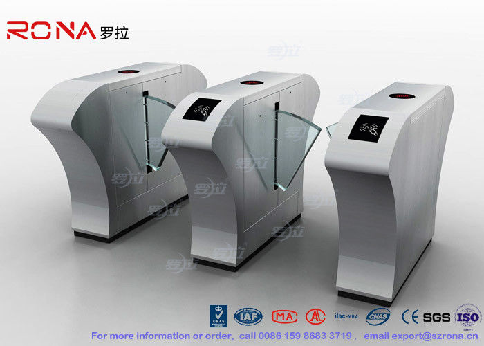 Half Height Access Control Flap Barrier Gate Turnstile Automatically Flap Barrier With Acrylic Flap