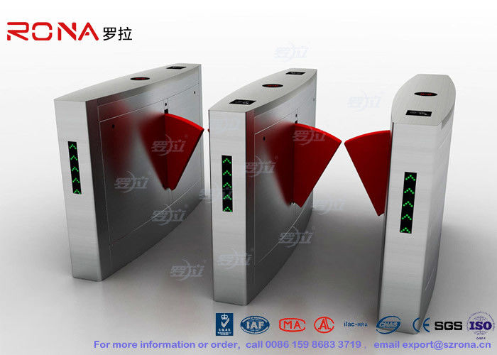 3 Lanes Flap Barrier Gate Flap Automatic Swing Barrier Gate Card Collector For Biometric Access Control