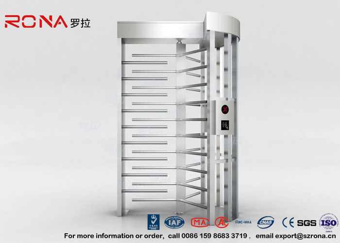 High Security Full Height Turnstile Access Control 30 Persons / Minute Transit Speed