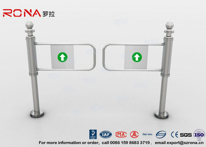 304 Stainless Steel Swing Barrier Gate Intelligent Manual Entry Turnstiles For Supermarket