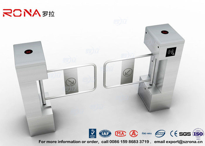 RFID Biometric Swing Barrier Gate , Bank Bridge Access Control Turnstile