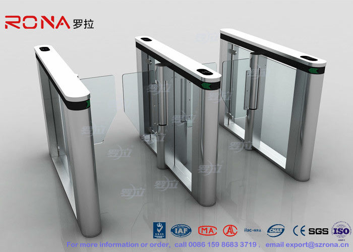 Automated Pedestrian Barrier Gate , Turnstile Security Systems 304 Stainless Steel