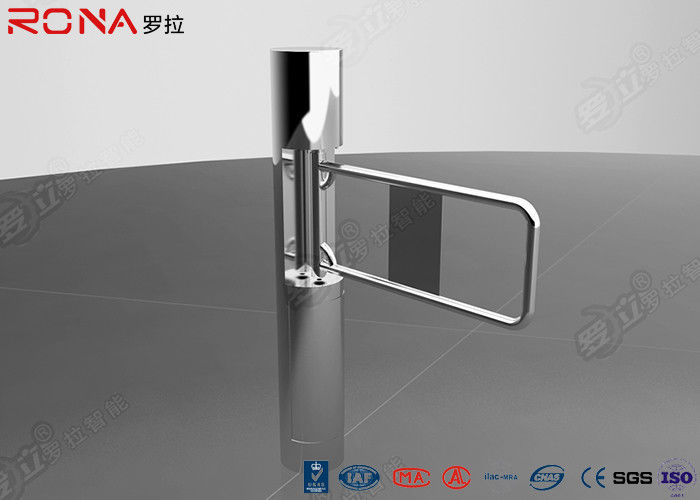 Pedestrian Access Control Security Swing Gate Turnstile With Glass / Acrylic Arm