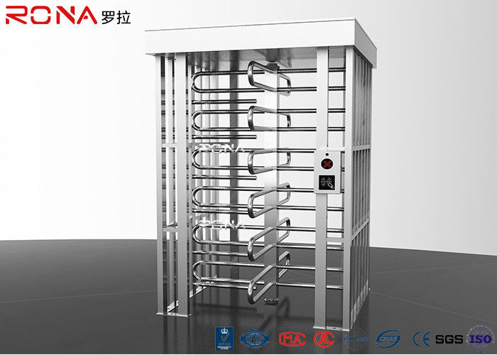 Semi - Auto Pedestrian Turnstile Gate Full Height 30 ~35 Persons / Minute
