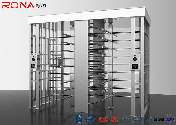 Revolving Full Height Turnstile Gate Double Lane 50dB Noise For Crowd Control