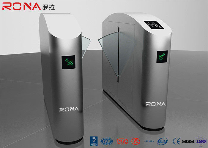 Smart Security Entrance Flap Barrier Gate With Fingerprint Reader Counter