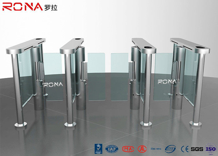 Electronic Waist Height Turnstiles Rfid Security Gate Barrier Space Saving Servo Morto