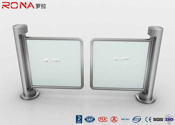 Access Control Swing Gate Turnstile Dual Mechanical Metal Round Pillar Single Pole