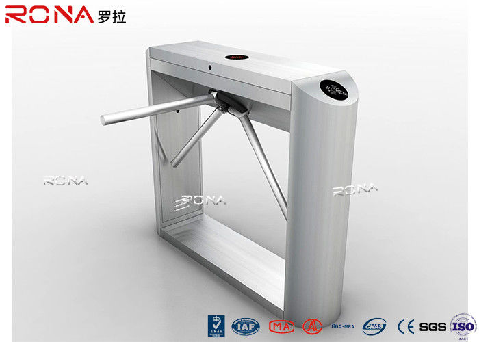 Stainless Steel RFID Flap Barrier Turnstile , Attendance Tripod Barrier Gate